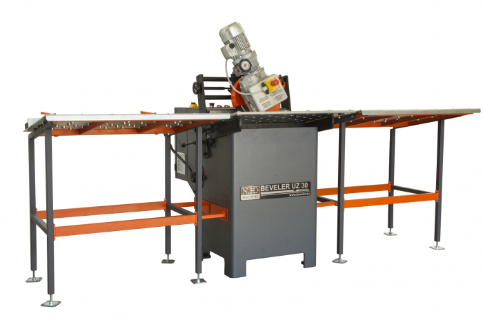 Bevelling system UZ30 Express+ Input and output table